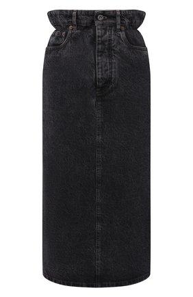 Женская джинсовая юбка MIU MIU черного цвета, арт. GWD234-XFU-F0002 | Фото 1