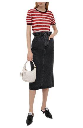 Женская джинсовая юбка MIU MIU черного цвета, арт. GWD234-XFU-F0002 | Фото 2