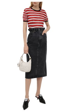Женская джинсовая юбка MIU MIU темно-серого цвета, арт. GWD234-XFU-F0002   Фото 2