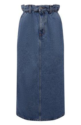 Женская джинсовая юбка MIU MIU синего цвета, арт. GWD250-1SXO-F0008   Фото 1