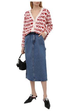 Женская джинсовая юбка MIU MIU синего цвета, арт. GWD250-1SXO-F0008   Фото 2
