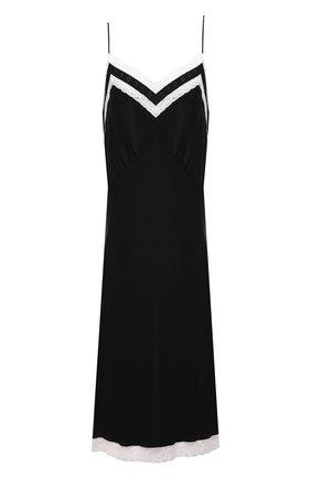 Женское шелковое платье MIU MIU черного цвета, арт. MF4060-102-F0002 | Фото 1