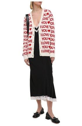 Женское шелковое платье MIU MIU черного цвета, арт. MF4060-102-F0002 | Фото 2