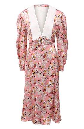 Женское платье из вискозы MIU MIU розового цвета, арт. MF4065-1YFY-F0D61 | Фото 1