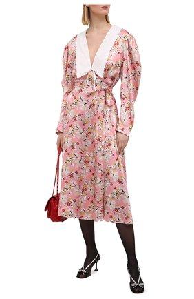 Женское платье из вискозы MIU MIU розового цвета, арт. MF4065-1YFY-F0D61 | Фото 2