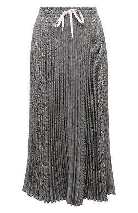 Женская плиссированная юбка MIU MIU серого цвета, арт. MG1330-1V7Q-F0002 | Фото 1