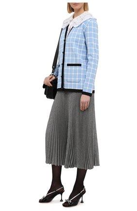 Женская плиссированная юбка MIU MIU серого цвета, арт. MG1330-1V7Q-F0002 | Фото 2