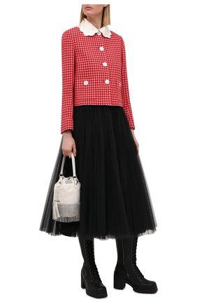 Женская юбка MIU MIU черного цвета, арт. MG1571-1YQH-F0002 | Фото 2
