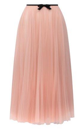 Женская юбка MIU MIU светло-розового цвета, арт. MG1571-1YQH-F0236 | Фото 1