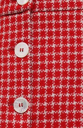 Женская юбка MIU MIU красного цвета, арт. MG1573-1V7V-F0011 | Фото 5 (Материал внешний: Шерсть, Синтетический материал; Длина Ж (юбки, платья, шорты): Мини; Женское Кросс-КТ: Юбка-одежда; Стили: Кэжуэл)