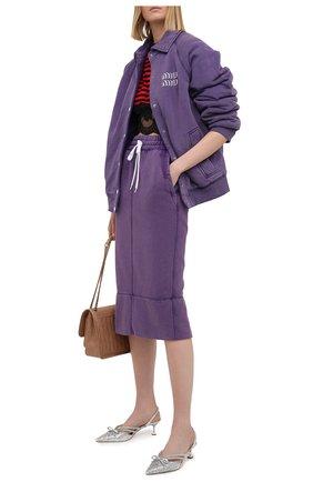 Женская хлопковая юбка MIU MIU разноцветного цвета, арт. MJD175-1IG3-F0014 | Фото 2