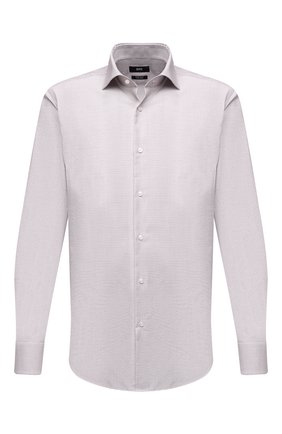 Мужская хлопковая сорочка BOSS светло-бежевого цвета, арт. 50450924 | Фото 1