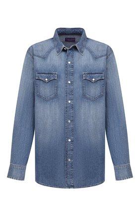 Мужская джинсовая рубашка RALPH LAUREN голубого цвета, арт. 790729714 | Фото 1