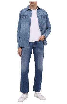 Мужская джинсовая рубашка RALPH LAUREN голубого цвета, арт. 790729714 | Фото 2