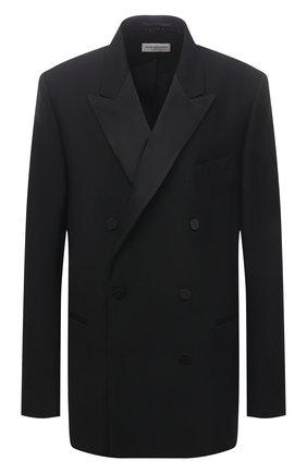 Мужской пиджак из шерсти и шелка DRIES VAN NOTEN черного цвета, арт. 211-20406-2227 | Фото 1
