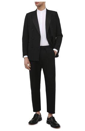 Мужской пиджак из шерсти и шелка DRIES VAN NOTEN черного цвета, арт. 211-20406-2227 | Фото 2