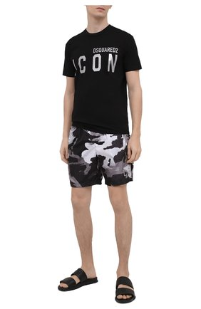 Мужские кожаные шлепанцы BOGNER черного цвета, арт. 12120821/ACAPULG0 3 A | Фото 2 (Материал внутренний: Натуральная кожа)