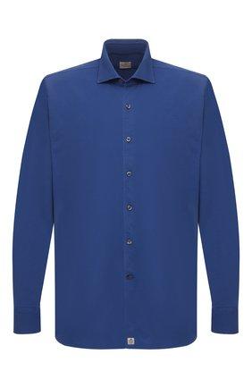 Мужская хлопковая рубашка SONRISA синего цвета, арт. ITJ08/IN/J119/3XL | Фото 1
