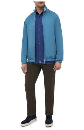 Мужская хлопковая рубашка SONRISA синего цвета, арт. ITJ08/IN/J119/3XL | Фото 2