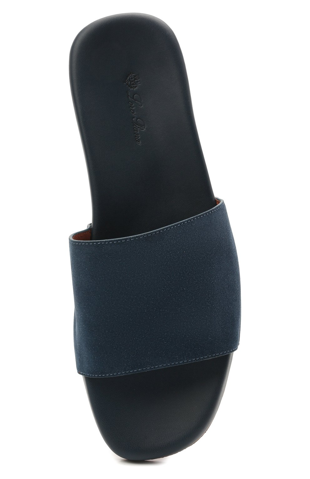 Мужские замшевые шлепанцы sea-slide LORO PIANA синего цвета, арт. FAI4870 | Фото 5