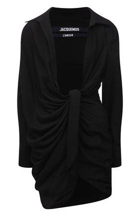 Женское платье из вискозы JACQUEMUS черного цвета, арт. 211DR09/102990 | Фото 1