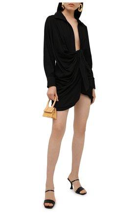 Женское платье из вискозы JACQUEMUS черного цвета, арт. 211DR09/102990 | Фото 2