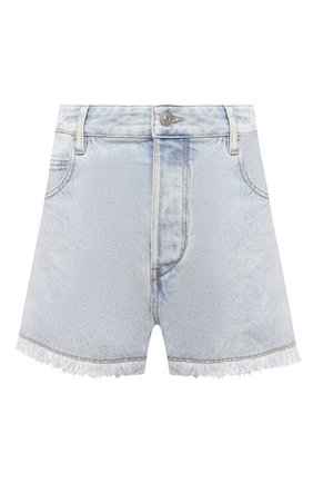 Женские джинсовые шорты ISABEL MARANT ETOILE голубого цвета, арт. SH0372-21P019E/LESIASR | Фото 1 (Длина Ж (юбки, платья, шорты): Мини; Материал внешний: Хлопок; Женское Кросс-КТ: Шорты-одежда; Кросс-КТ: Деним; Стили: Кэжуэл)