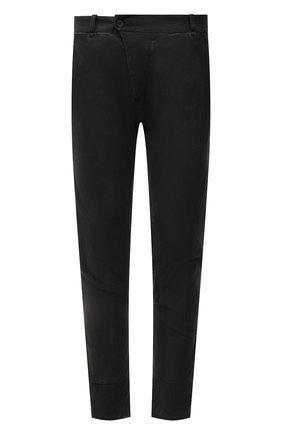 Мужские хлопковые брюки MASNADA темно-серого цвета, арт. M2643   Фото 1