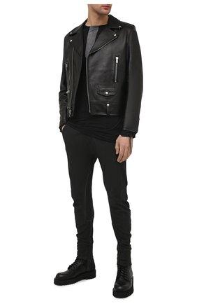 Мужские хлопковые брюки MASNADA темно-серого цвета, арт. M2643   Фото 2