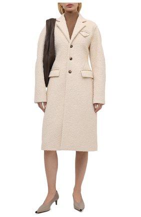 Пальто из хлопка и шелка | Фото №2