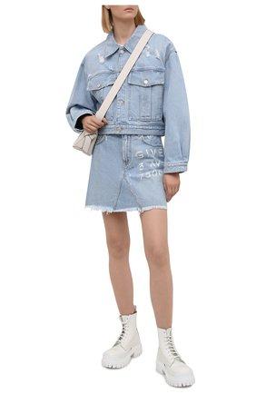 Женская джинсовая юбка GIVENCHY голубого цвета, арт. BW40GL50D1 | Фото 2