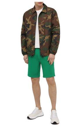 Мужские шорты POLO RALPH LAUREN зеленого цвета, арт. 710790292 | Фото 2