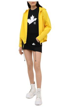 Женская хлопковая юбка DSQUARED2 черного цвета, арт. S75MA0764/S25042 | Фото 2