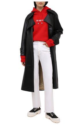 Женский хлопковое худи DSQUARED2 красного цвета, арт. S75GU0345/S25042 | Фото 2