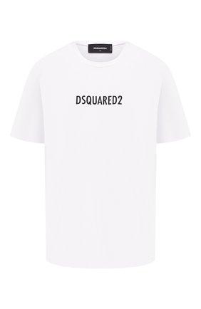 Женская хлопковая футболка DSQUARED2 белого цвета, арт. S72GD0302/S23009 | Фото 1