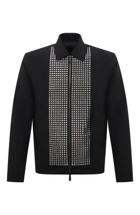 Мужская шерстяная куртка DSQUARED2 черного цвета, арт. S71AN0264/S40320 | Фото 1 (Материал подклада: Синтетический материал; Материал внешний: Шерсть; Длина (верхняя одежда): Короткие; Рукава: Длинные; Кросс-КТ: Куртка; Мужское Кросс-КТ: шерсть и кашемир; Стили: Гламурный)