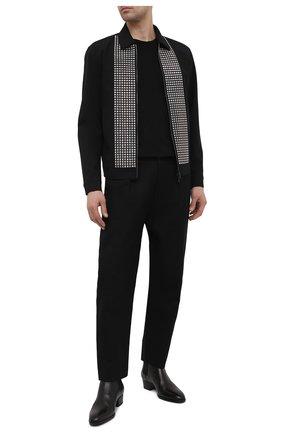 Мужская шерстяная куртка DSQUARED2 черного цвета, арт. S71AN0264/S40320 | Фото 2 (Материал подклада: Синтетический материал; Материал внешний: Шерсть; Длина (верхняя одежда): Короткие; Рукава: Длинные; Кросс-КТ: Куртка; Мужское Кросс-КТ: шерсть и кашемир; Стили: Гламурный)