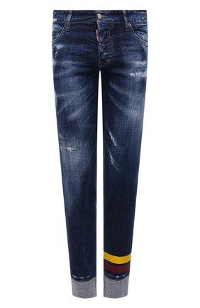 Мужские джинсы DSQUARED2 темно-синего цвета, арт. S74LB0844/S30342 | Фото 1
