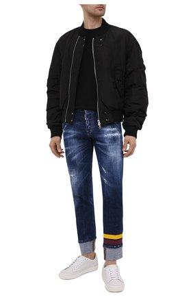 Мужские джинсы DSQUARED2 темно-синего цвета, арт. S74LB0844/S30342 | Фото 2