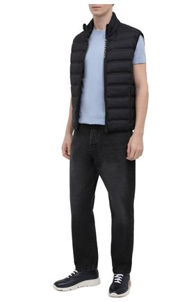 Мужские кожаные кроссовки MOMA темно-синего цвета, арт. 4AS018-S0 | Фото 2