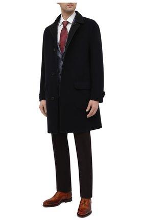 Мужские кожаные оксфорды SANTONI коричневого цвета, арт. MCPH17555RB2INGCC45 | Фото 2 (Материал внутренний: Натуральная кожа; Стили: Классический; Мужское Кросс-КТ: Броги-обувь)
