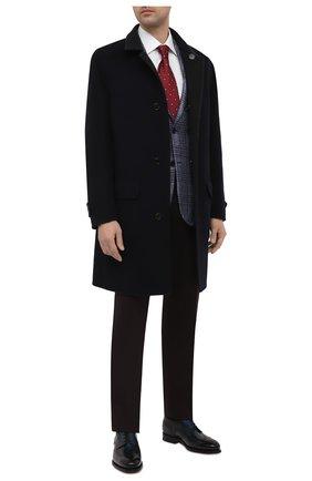 Мужские кожаные дерби SANTONI темно-серого цвета, арт. MCPH17556RB2INGCN60 | Фото 2 (Материал внутренний: Натуральная кожа; Стили: Классический; Мужское Кросс-КТ: Броги-обувь)