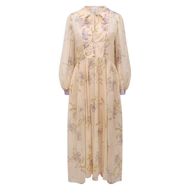 Платье из хлопка и шелка Forte_forte