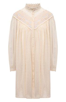 Женское хлопковое платье FORTE_FORTE бежевого цвета, арт. 8085 | Фото 1