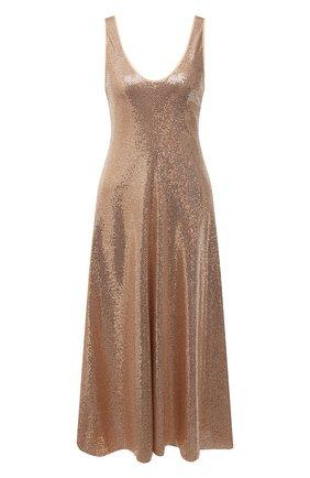 Женское платье FORTE_FORTE золотого цвета, арт. 8044 | Фото 1