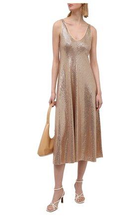 Женское платье FORTE_FORTE золотого цвета, арт. 8044 | Фото 2