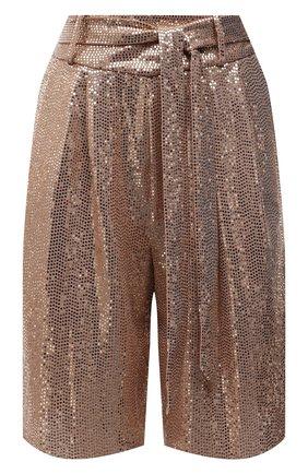 Женские шорты FORTE_FORTE золотого цвета, арт. 8042 | Фото 1