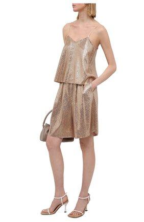 Женские шорты FORTE_FORTE золотого цвета, арт. 8042 | Фото 2