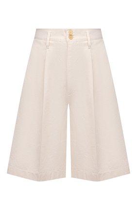 Женские хлопковые шорты FORTE_FORTE бежевого цвета, арт. 8031 | Фото 1
