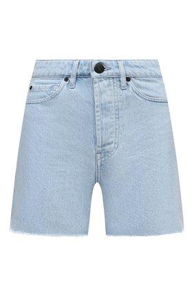 Женские джинсовые шорты 3X1 голубого цвета, арт. WS0100866/GLACIER | Фото 1